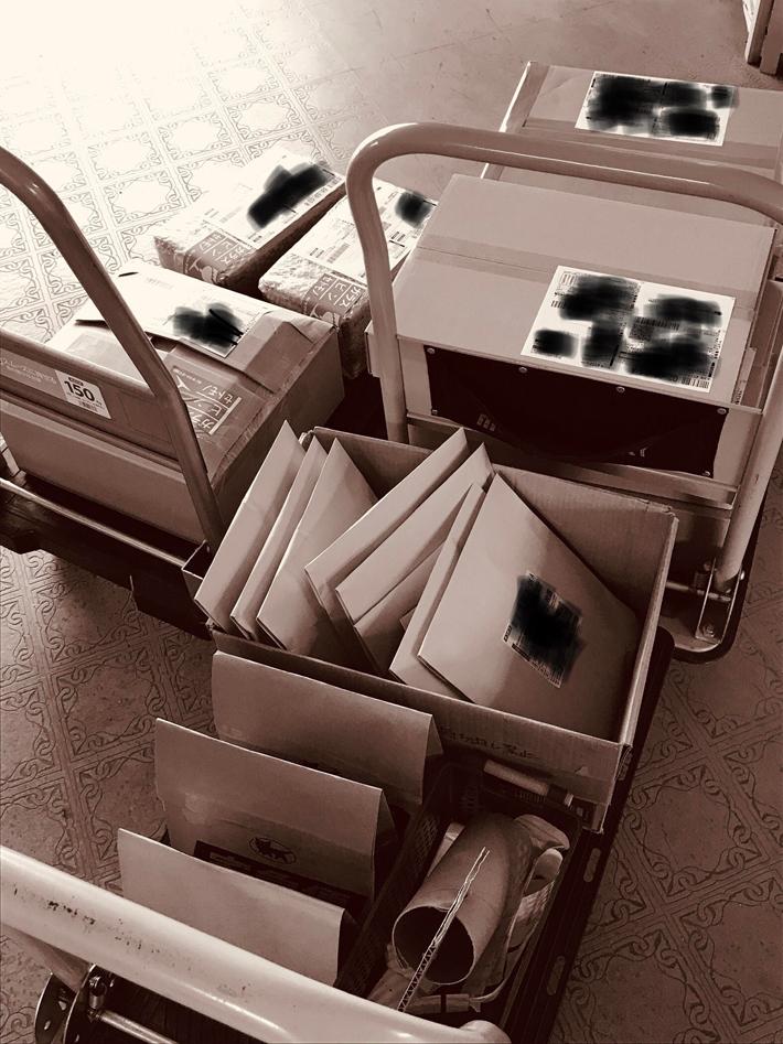 本日の発送分の荷物です